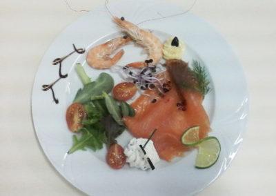 entrée-assiette-le bistrot gourmand-fegreac-restaurant-traiteur